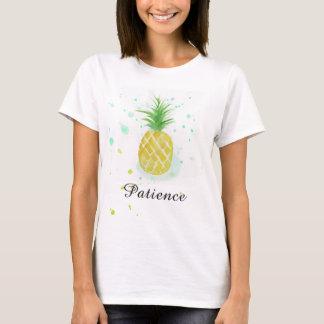 Camiseta de la paciencia de la camiseta de la piña