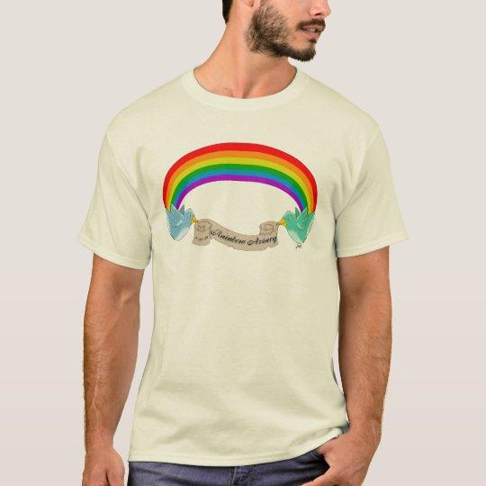 Camiseta de la pajarera del arco iris