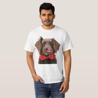 Camiseta de la pajarita del perro de aguas de