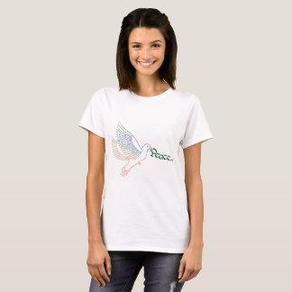 Camiseta de la paloma de la paz de mundo