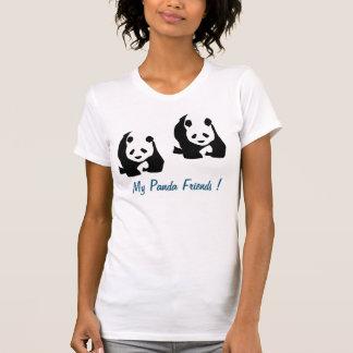 Camiseta de la panda de las mujeres