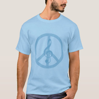 Camiseta de la paz de la música