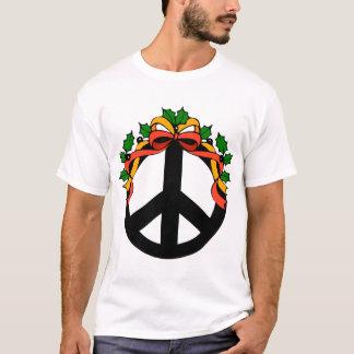 Camiseta de la paz del día de fiesta del navidad