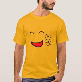 Camiseta De la paz traje del grupo del Emoticon hacia fuera