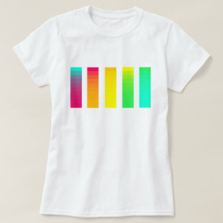 Camiseta de la pendiente del arco iris