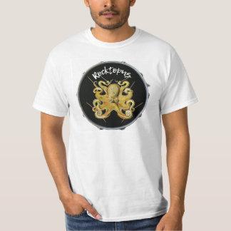 Camiseta de la percusión del batería de Rocktopus