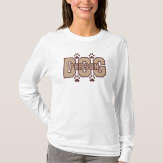 Camiseta de la persona del perro para las mujeres