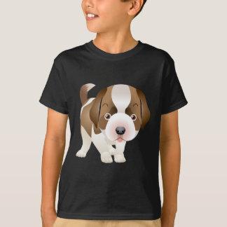 Camiseta de la pintura de la imagen del perrito de