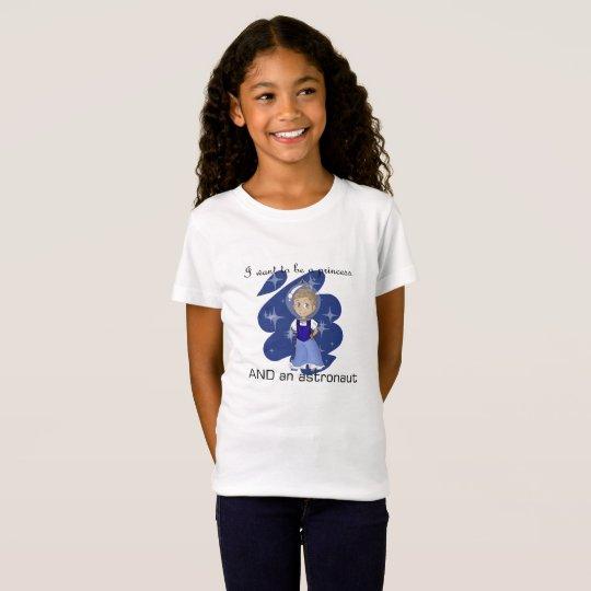 camiseta de la princesa y del astronauta - medio