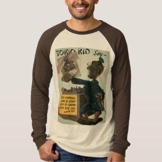 Camiseta de la propaganda del niño de Tokio