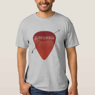Camiseta de la púa de guitarra