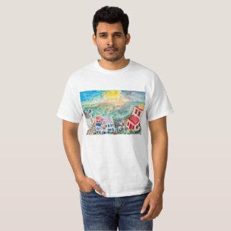 Camiseta de la puesta del sol de Mykonos
