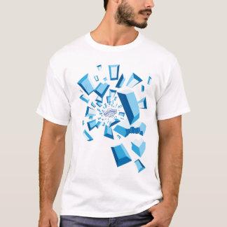 Camiseta de la ráfaga de la piedra preciosa del