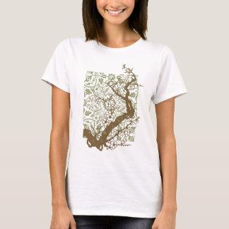 Camiseta de la rama de la cereza