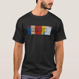 Camiseta de la rejilla de la matemáticas