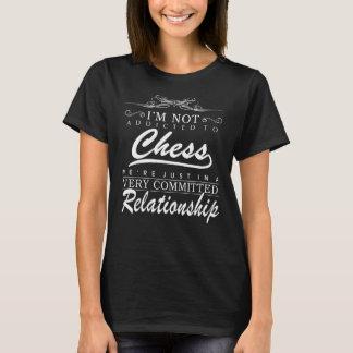 Camiseta de la relación del ajedrez