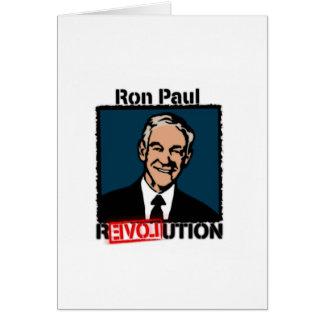 Camiseta de la revolución de Ron Paul Tarjeta De Felicitación