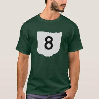 Camiseta de la ruta 8 del estado de Ohio