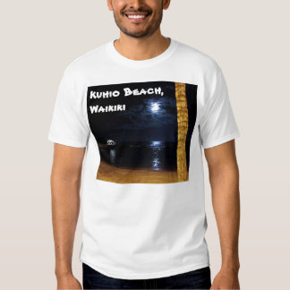 Camiseta de la salida de la luna de Waikiki