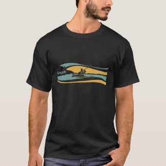 Camiseta de la salida del sol del kajak