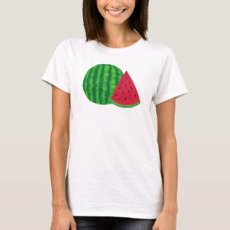 Camiseta de la sandía de las mujeres