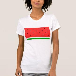 Camiseta de la sandía para las mujeres