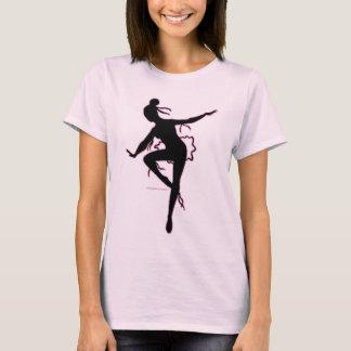 Camiseta de la silueta de la bailarina de Prima