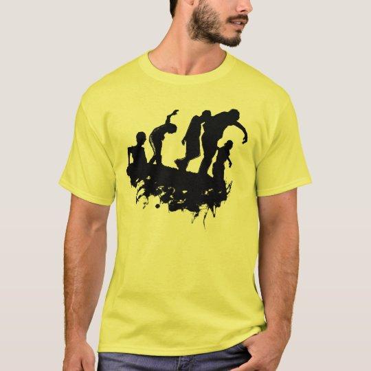 Camiseta de la silueta de la procesión del zombi