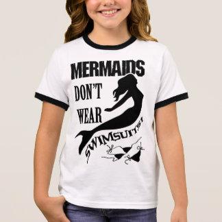 Camiseta de la sirena del chica del Naturist/del