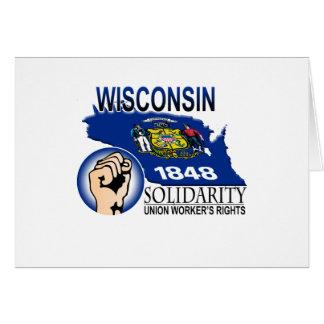 Camiseta de la solidaridad de Wisconsin Tarjeta De Felicitación