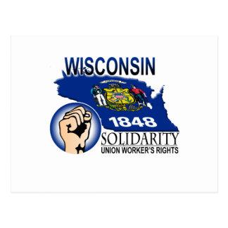 Camiseta de la solidaridad de Wisconsin Postal