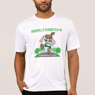 Camiseta de la tela del funcionamiento de los