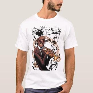 Camiseta de la tinta del jazz