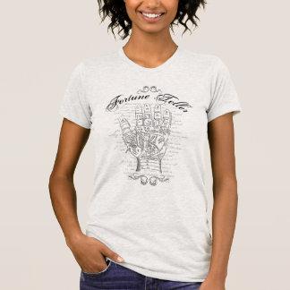 Camiseta de la tipografía de la quiromancía del