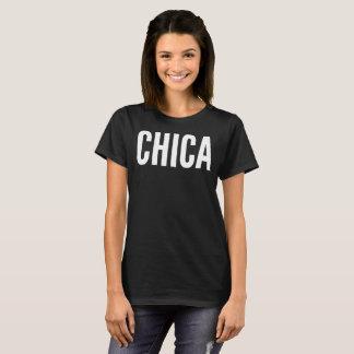 Camiseta de la tipografía del texto de Chica