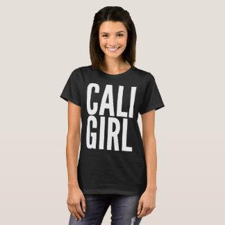 Camiseta de la tipografía del texto del chica de