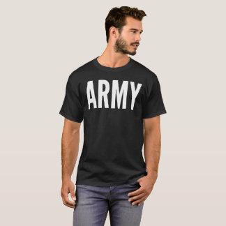 Camiseta de la tipografía del texto del ejército