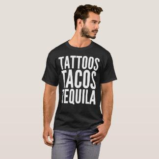 Camiseta de la tipografía del texto del Tequila
