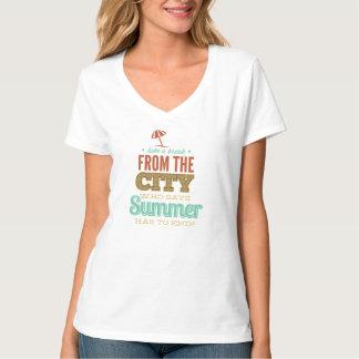 Camiseta de la tipografía del verano