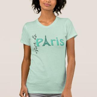 Camiseta de la torre Eiffel de París de la