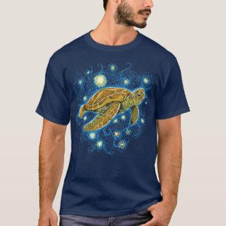 Camiseta de la tortuga de la noche estrellada