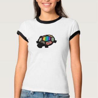 Camiseta de la tortuga del remiendo