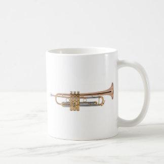 Camiseta de la trompeta taza de café