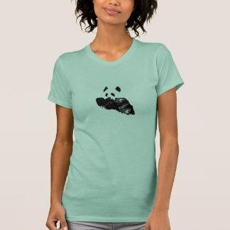 Camiseta de la turquesa de la impresión de la