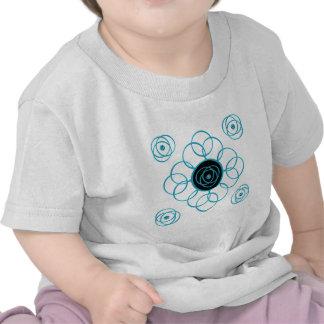 Camiseta de la voluta de la turquesa y del niño de