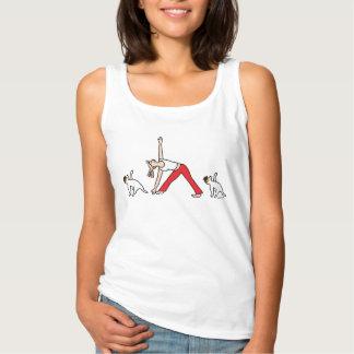 Camiseta de la yoga de Jack Russell Terrier
