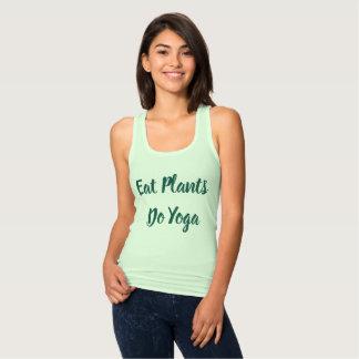 Camiseta de la yoga del vegano