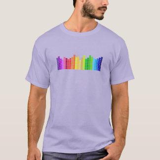 Camiseta de las barras de los sonidos del arco