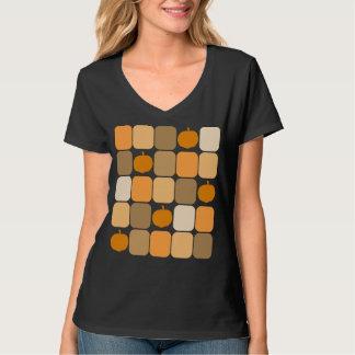 Camiseta de las calabazas del remiendo