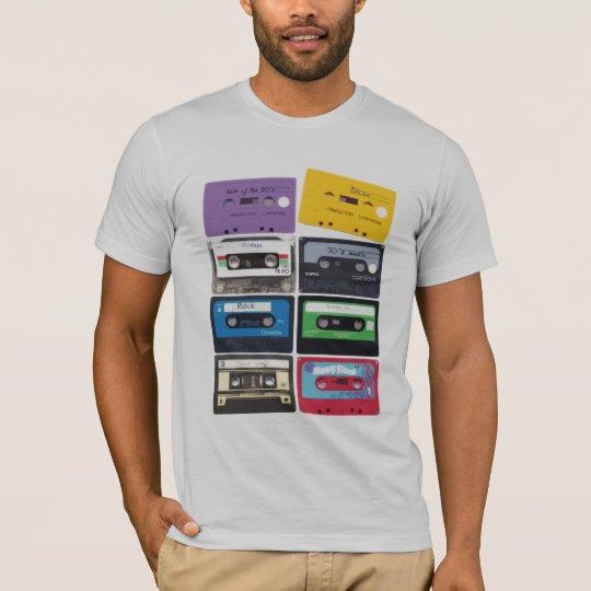 camiseta de las cintas de casete